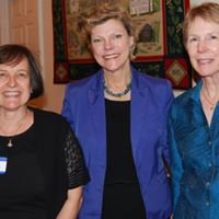 Founder Emerita Betsy Marlow(far left) and Founder Emerita Jo Fortuna (Far Right) pictured with the late, Cokie Roberts